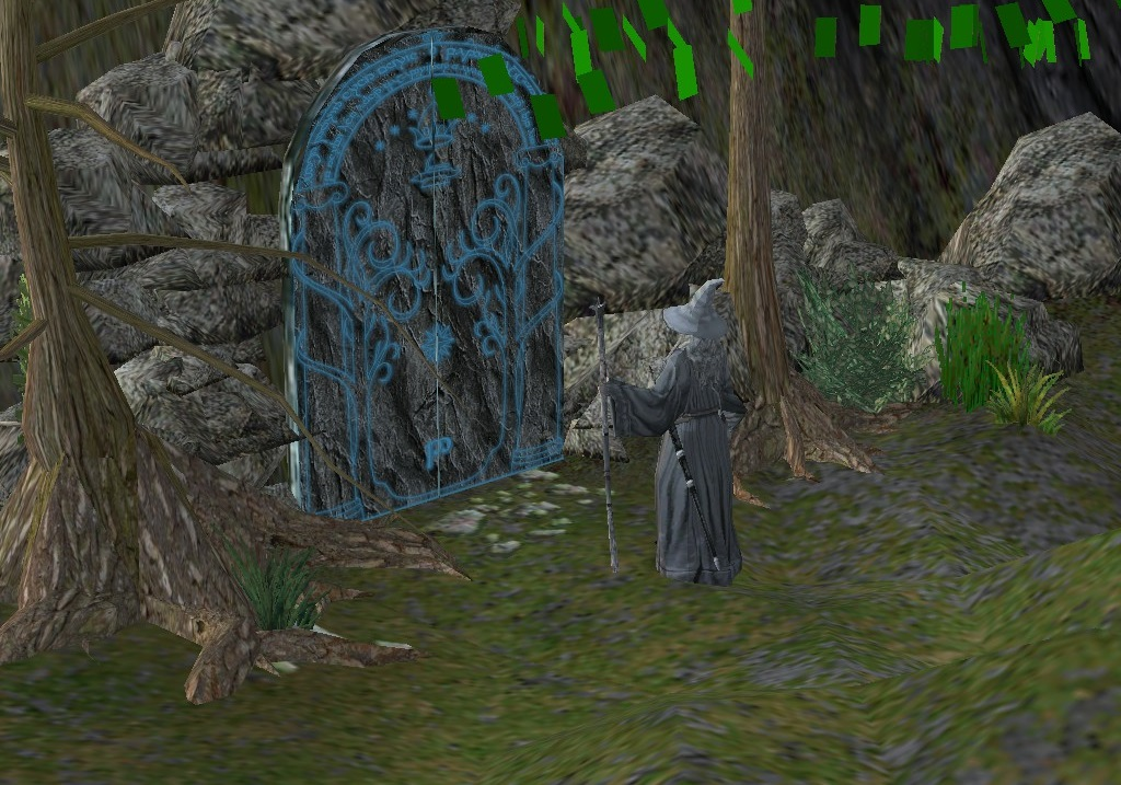 Gandalf at the Doors of Durin. These high poly models are used to recreate the film's scenes in incredible detail, with hours of carefully detailed animations.