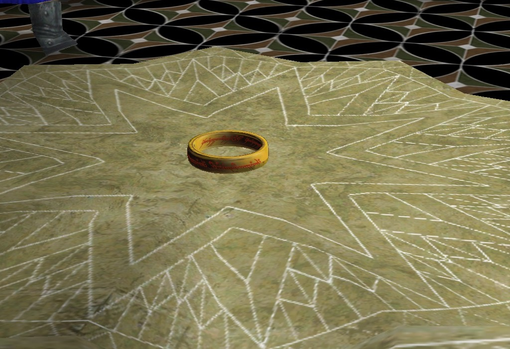 The Ring of Power sits alone at the Council of Elrond...