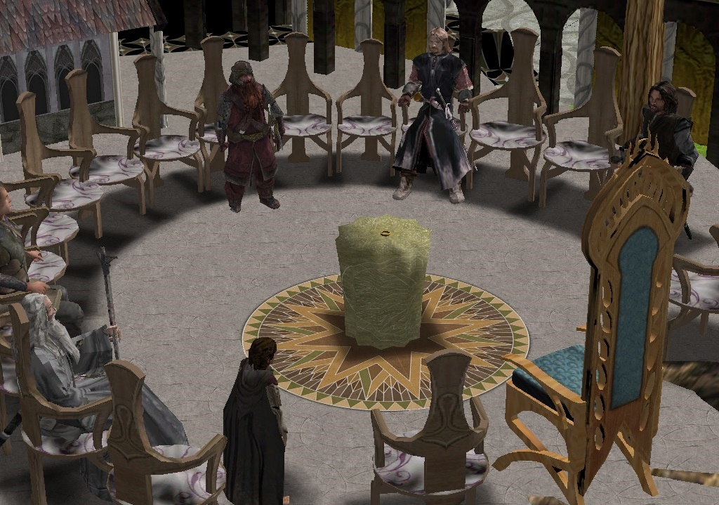 The Council of Elrond setpiece.