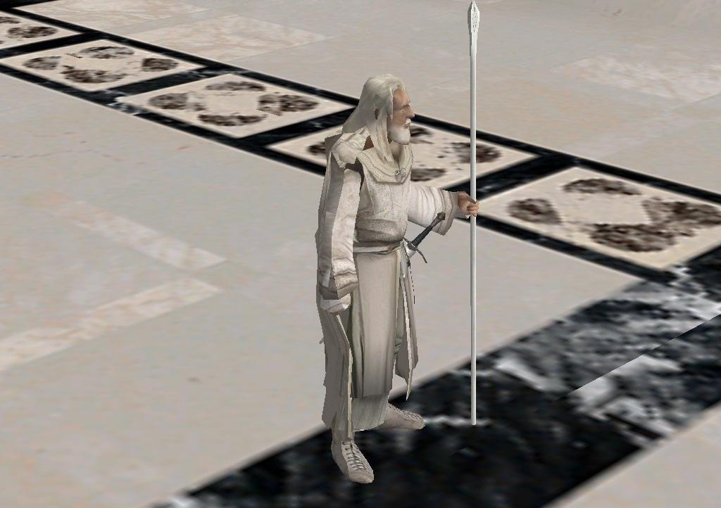 Gandalf the White at Minas Tirith.