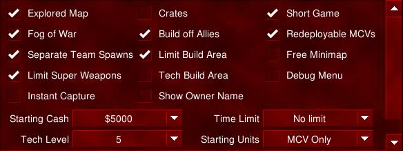 RV Lobby Options
