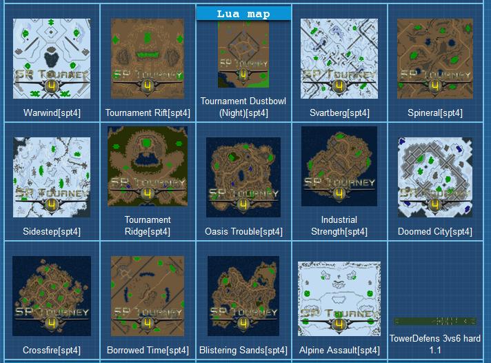 tournament map list