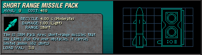 003 IS Short Range Missile Pack