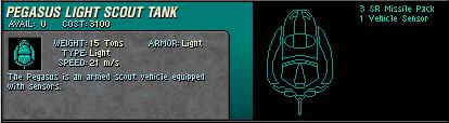 04 Pegasus Light Scout Tank