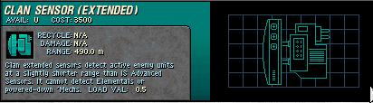 050 Clan Sensor Extended