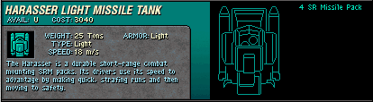 07 Harasser Light Missile Tank