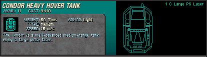 14 Condor Heavy Hover Tank