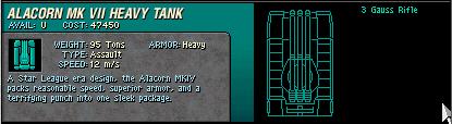 23 Alacorn MK VII Heavy Tank