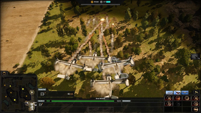 A flying saturation artillery