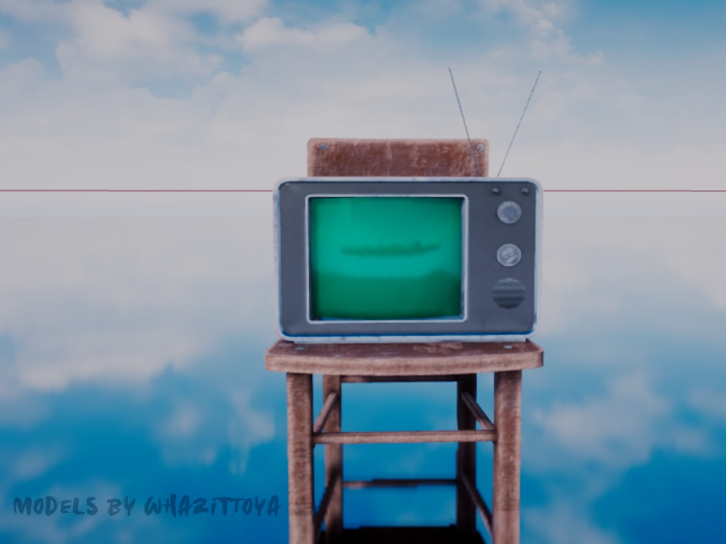 A Television sitting on top of a chair.
