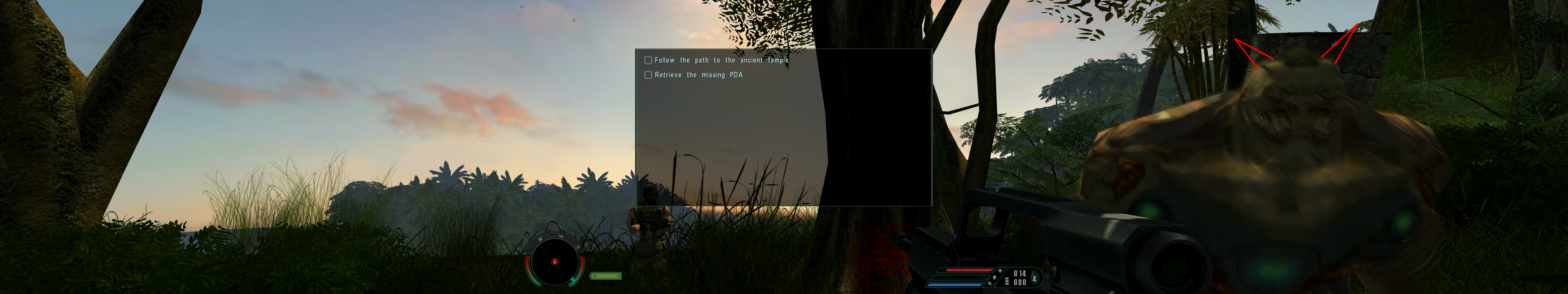 Floating HUD example