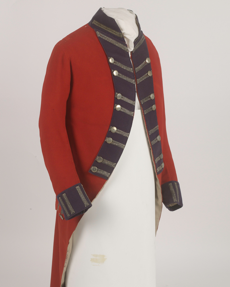 Officers coatee 56th foot 1795