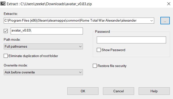 RTW Avatar extract