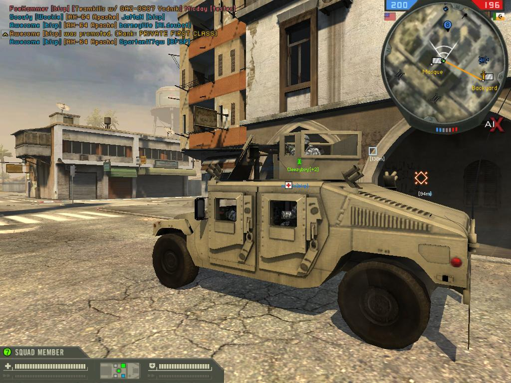 Uparmored Humvee in AIX2