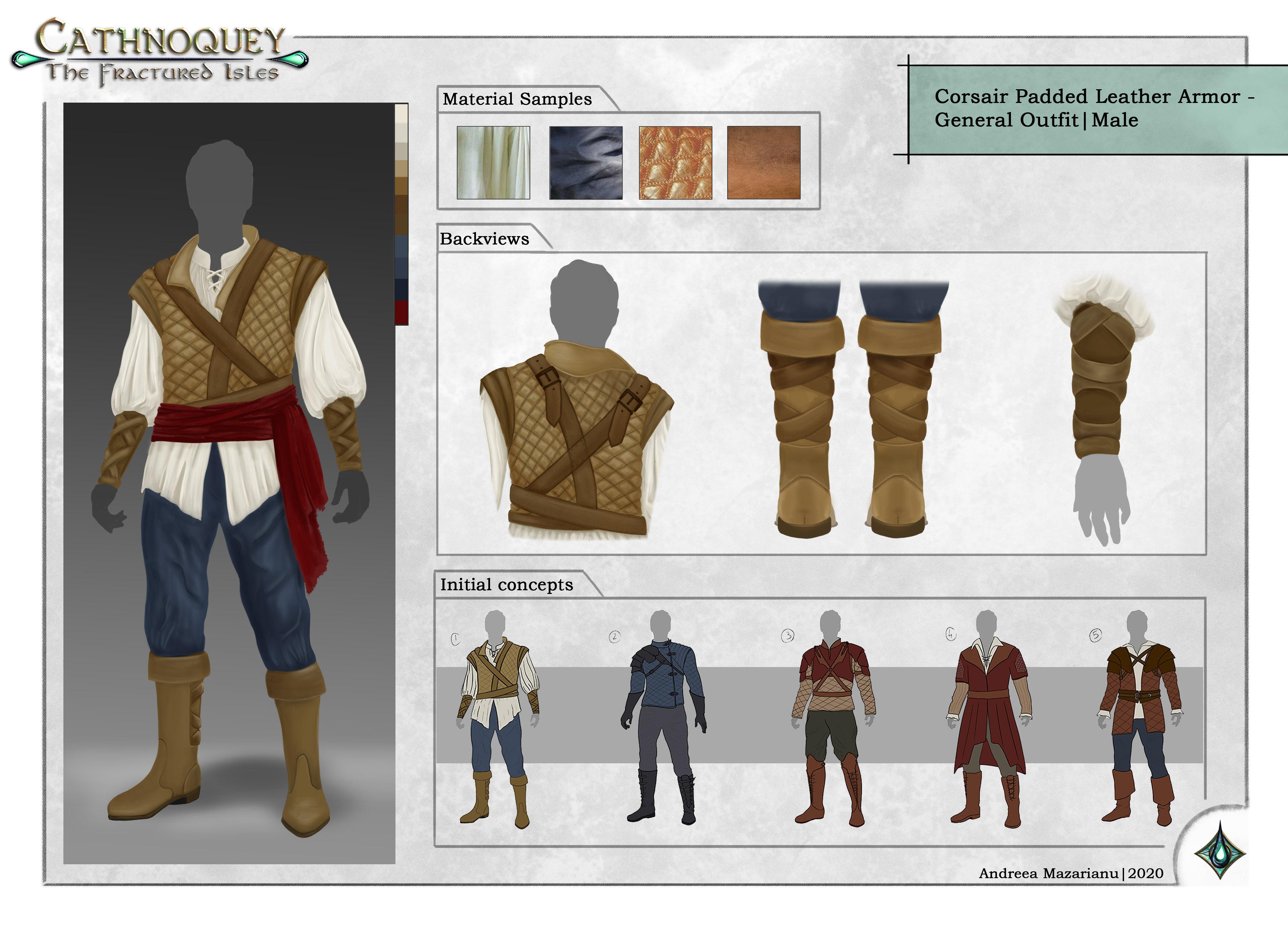 Corsair Padded Leather Armor Mal
