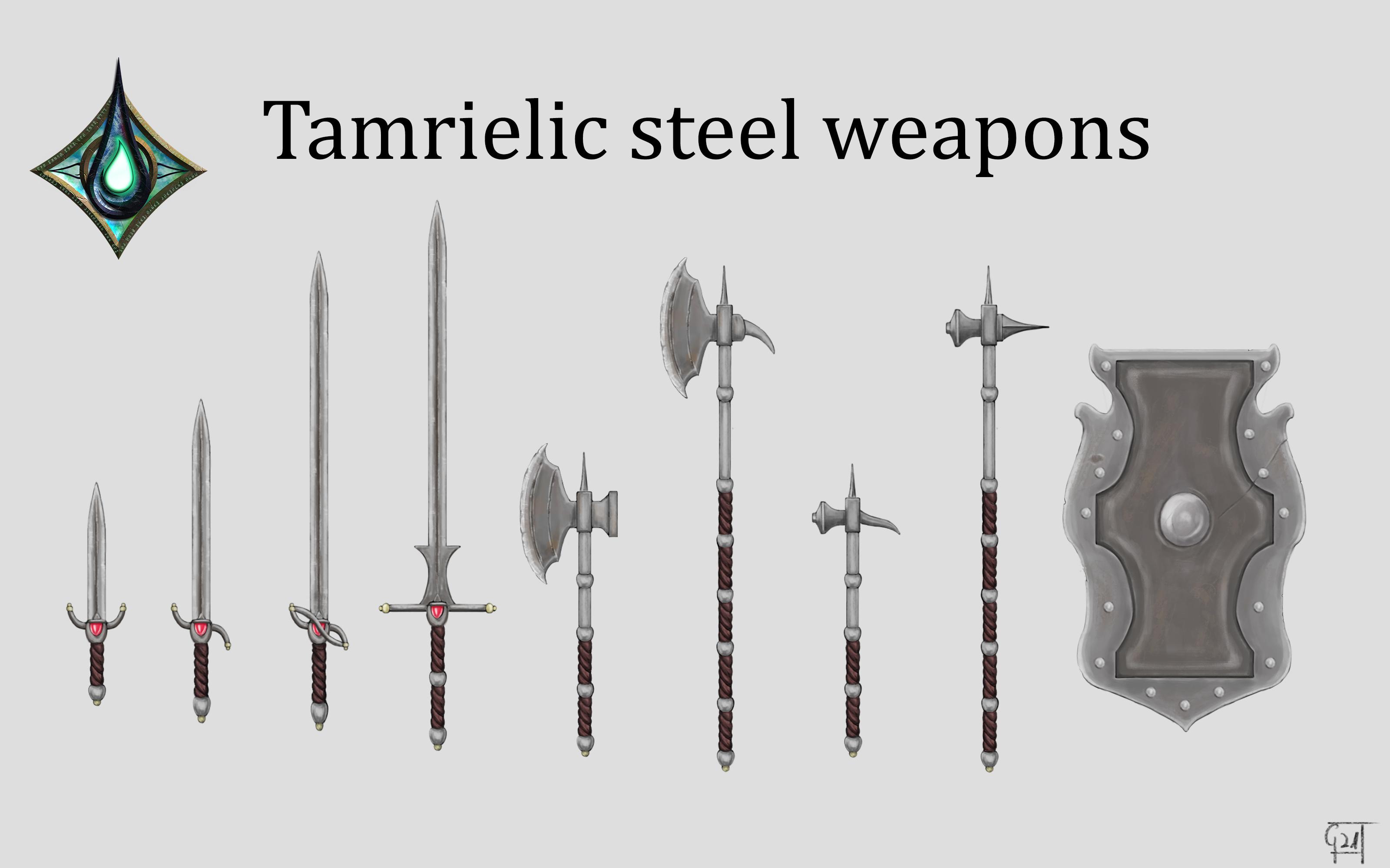 tamrielic steel weapons