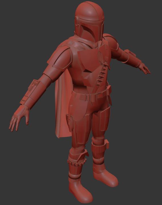 High Poly finished; Low Poly about to be textured. Rigging next