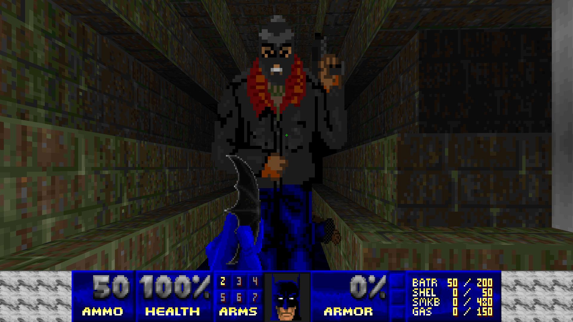 original batman doom, where batman smaller than thugs