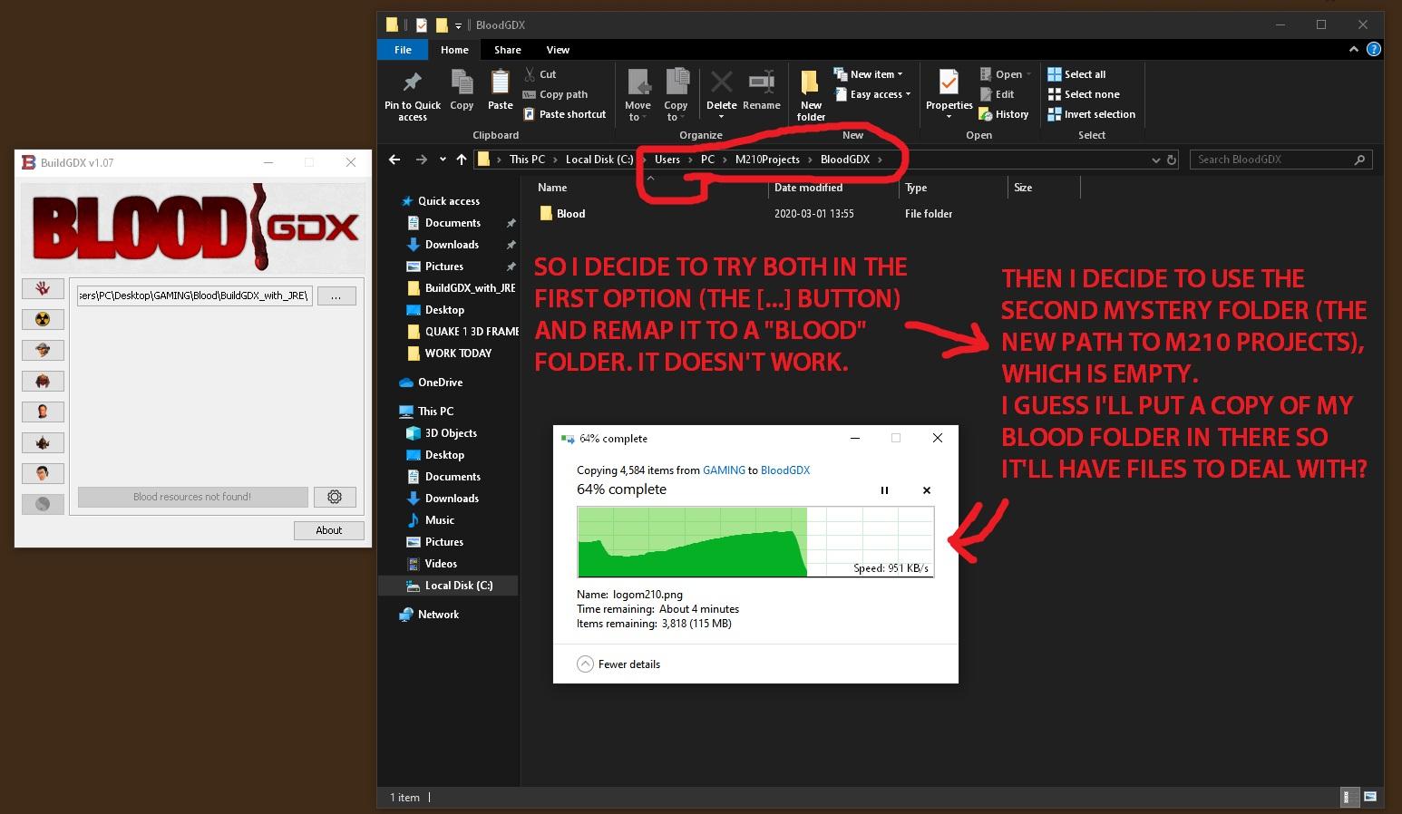BloodGDX install fail 010