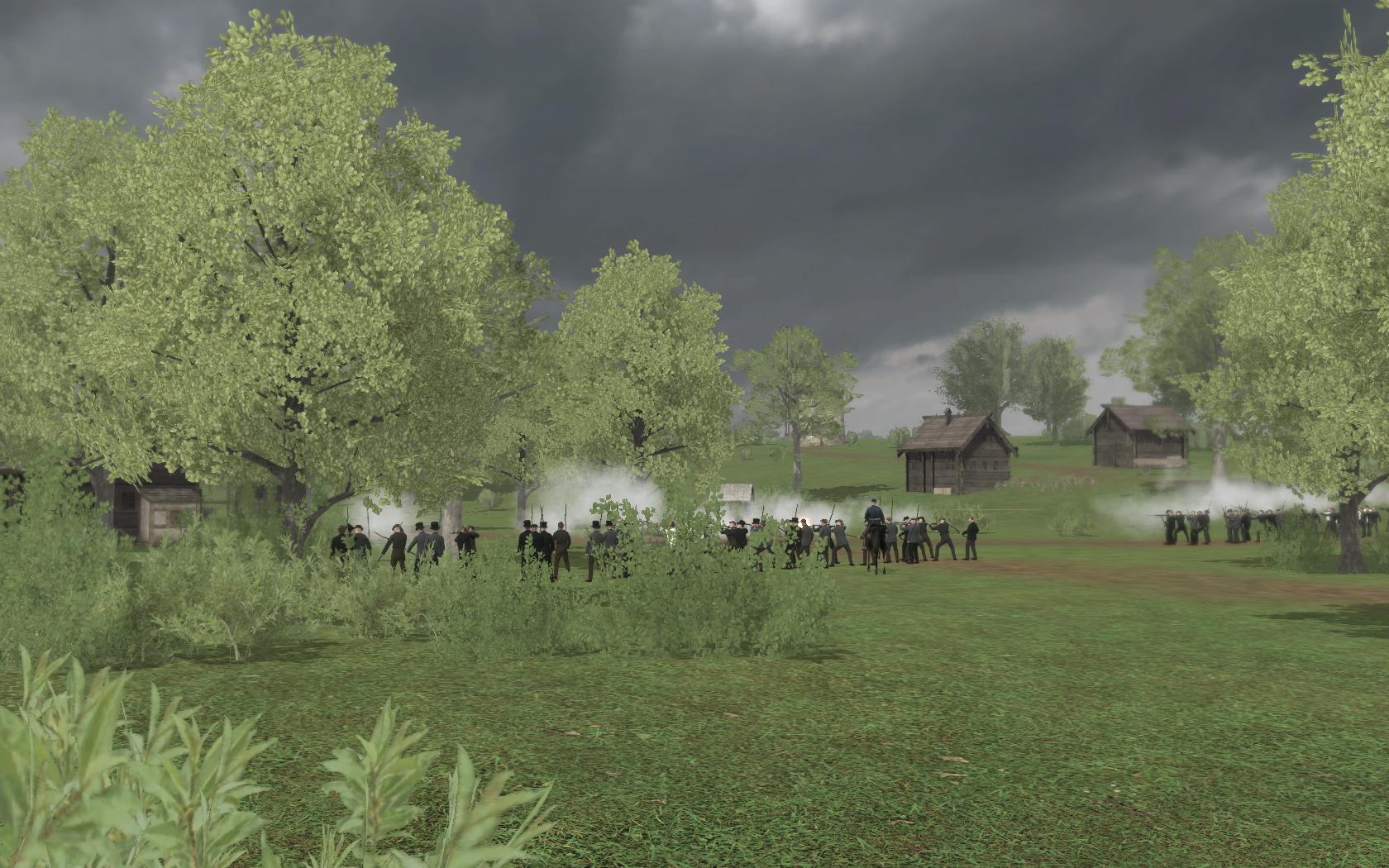Rebels in a village