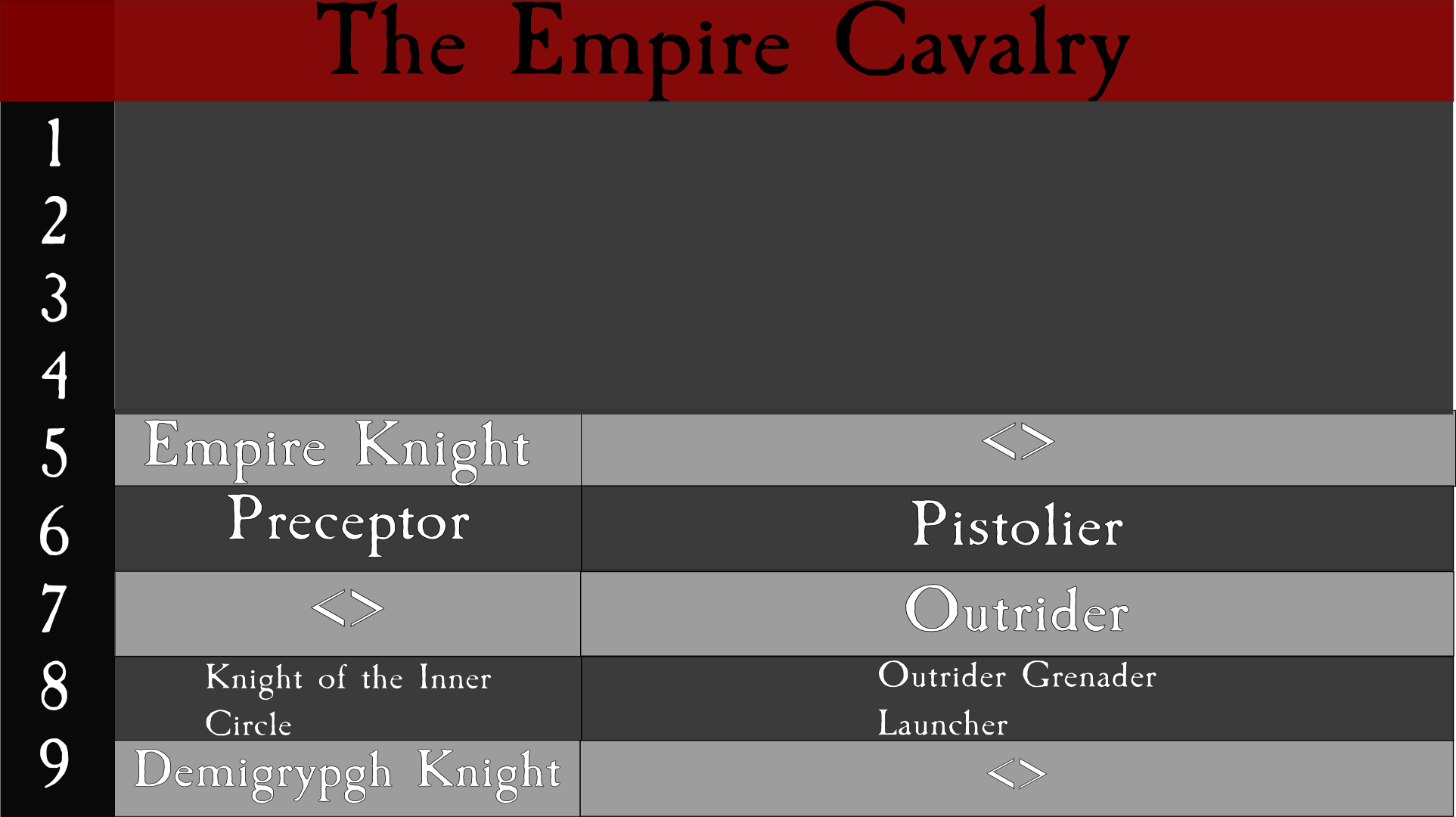 Empire tree Cavalry