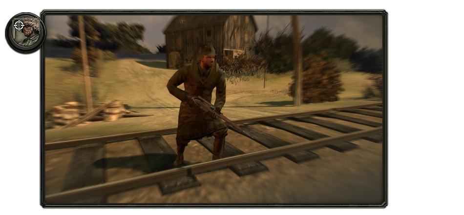 Hungarian marksman (sniper) with long coat.