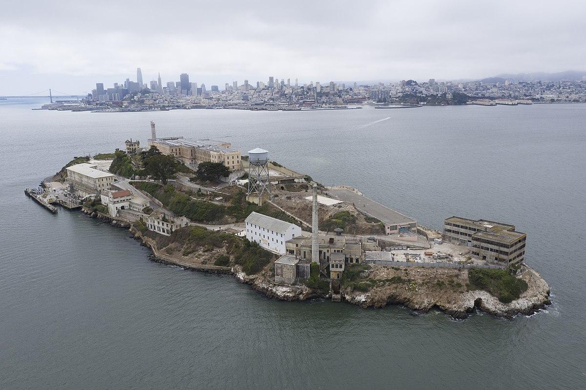 Alcatraz island in real-life