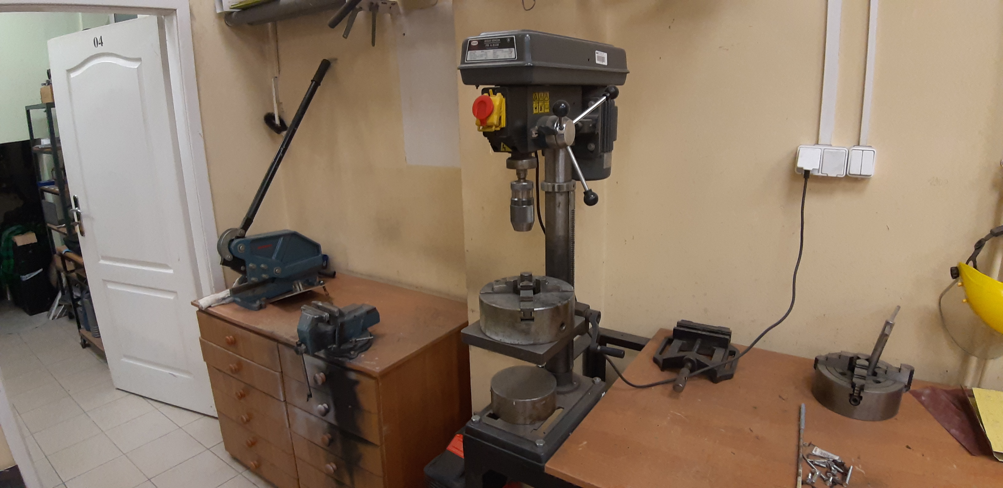 Manual drill machine in real-life