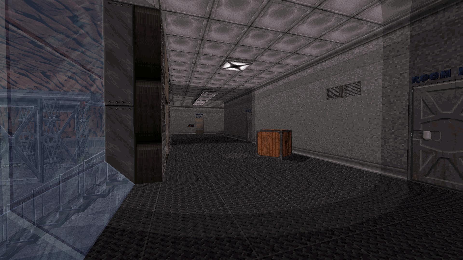 Main corridor in section B