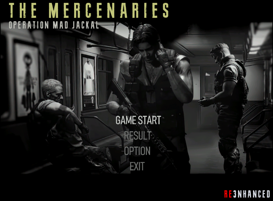 RE3NHANCED - The Mercenaries Menu 2.1 Preview