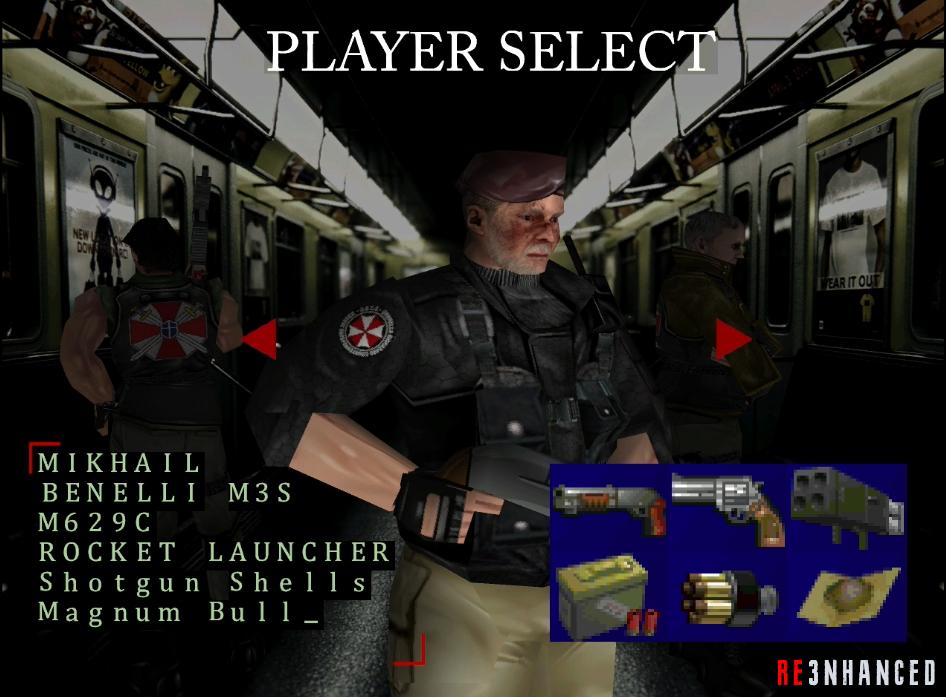 RE3NHANCED - The Mercenaries Mikhail Preview