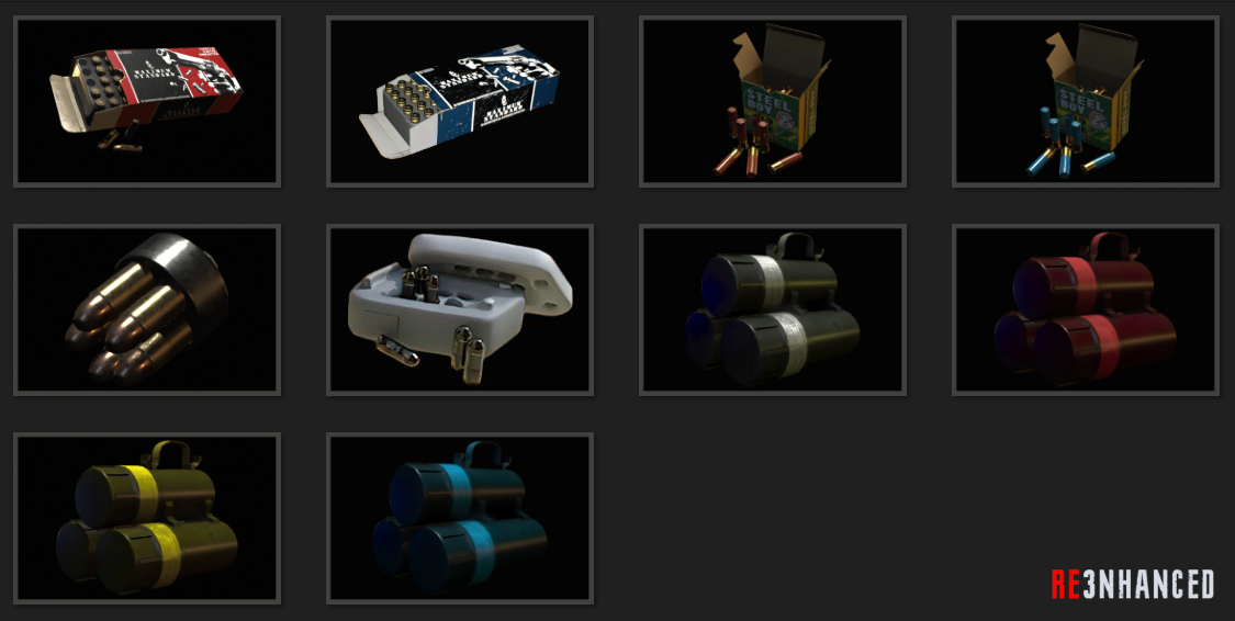 RE3NHANCED - Items Ammo Preview 2.0