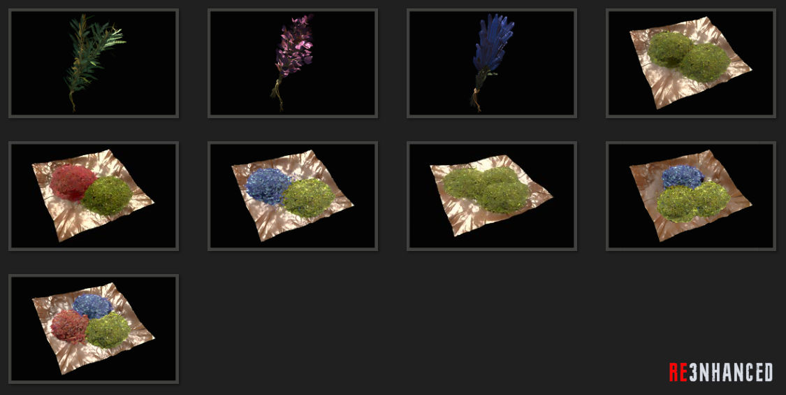 RE3NHANCED - Items Herb Preview