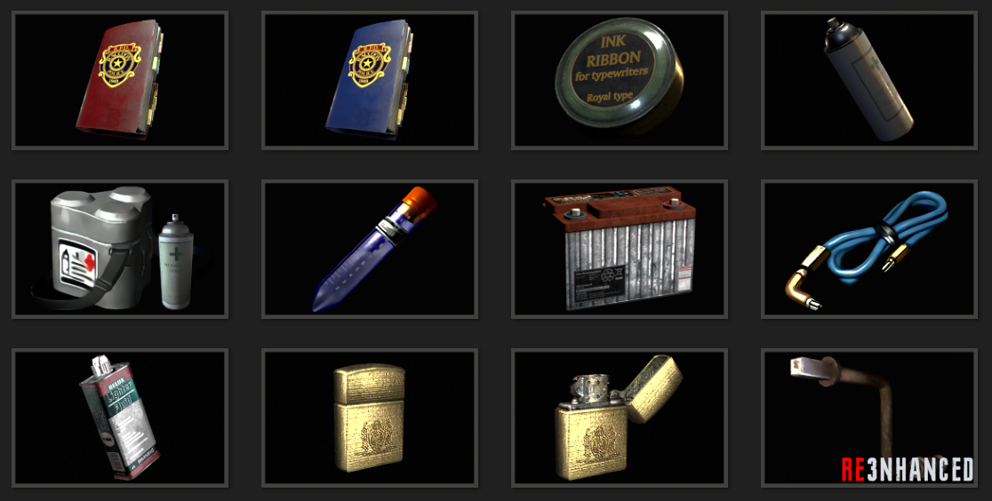 RE3NHANCED - Items Preview