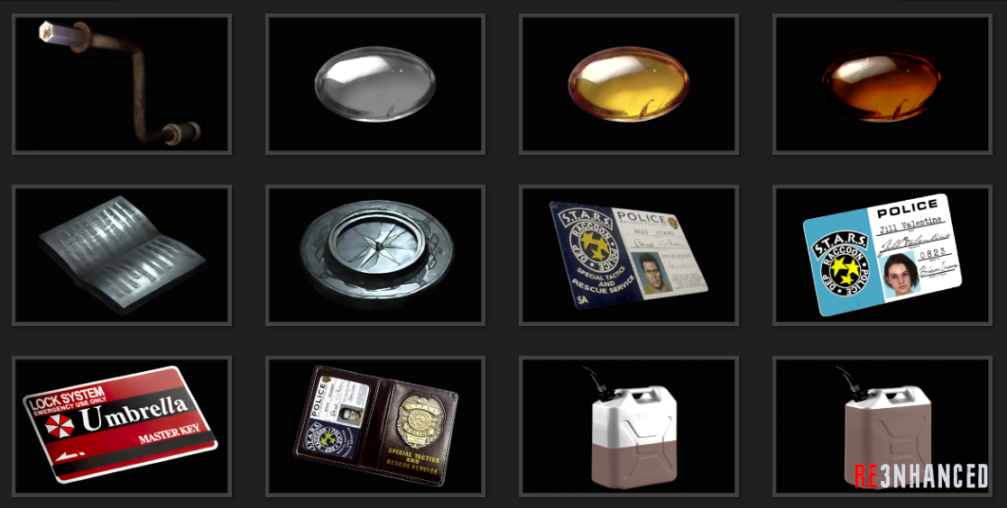 RE3NHANCED - Items Preview 2
