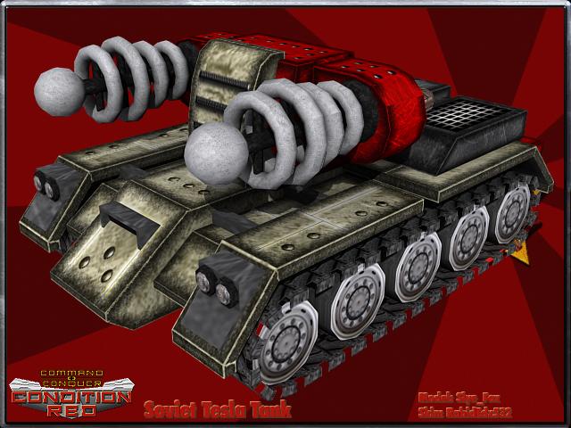 Soviet Tesla Tank Image Cnc Condition Red Mod For C Amp C