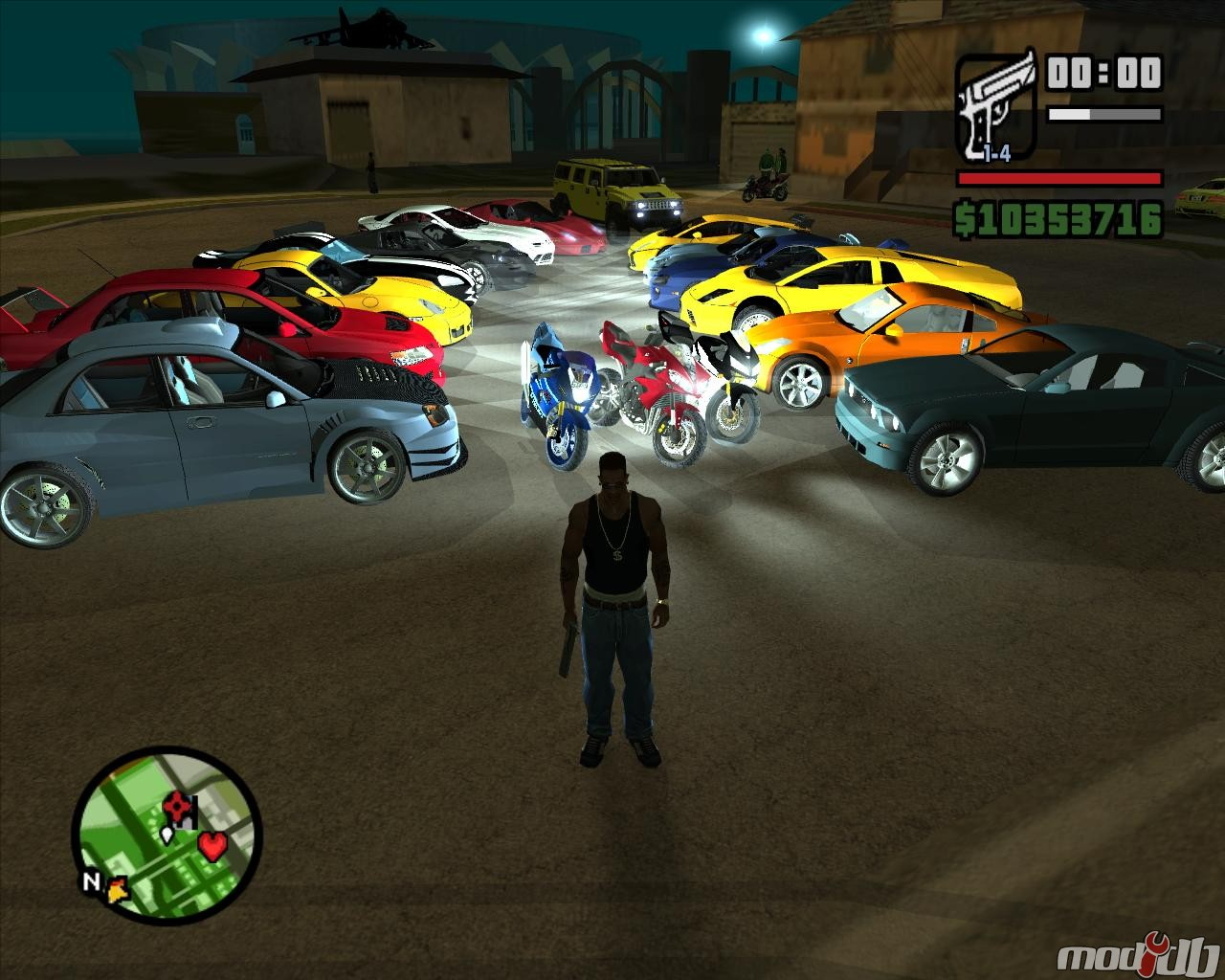 Various cars in the mod image - gt mod mod for grand theft auto: san
