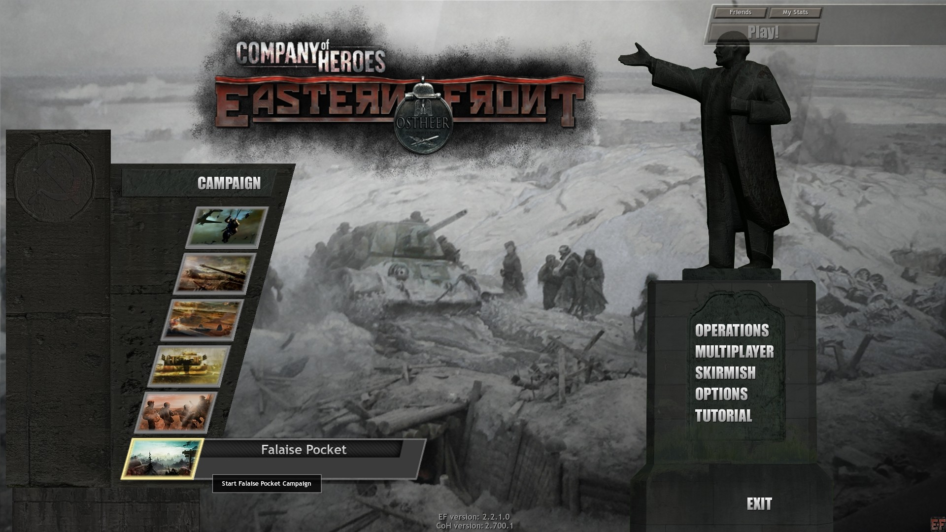 New Main Menu Of Doom For Ef Image Company Of Heroes Eastern Front Mod For Company Of Heroes Opposing Fronts Mod Db