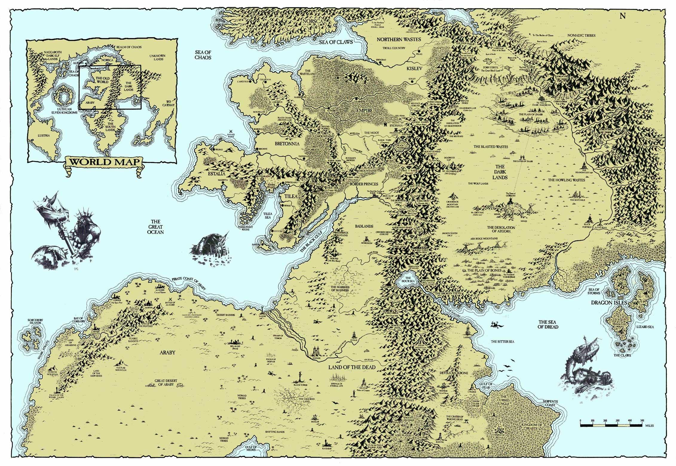 Map Image Warhammer Shattered Lineage Mod For Elder Scrolls Iv