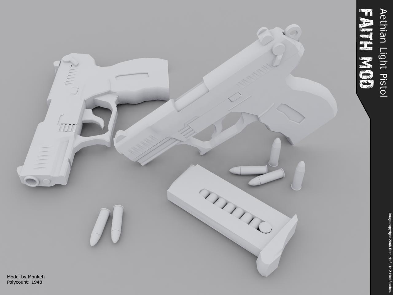 Aethian Service Pistol