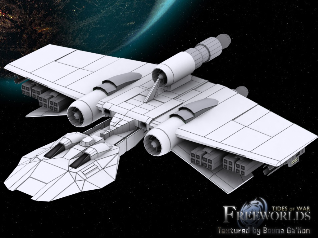 The start of the new K-Wing texture image - Freeworlds: Tides of ...