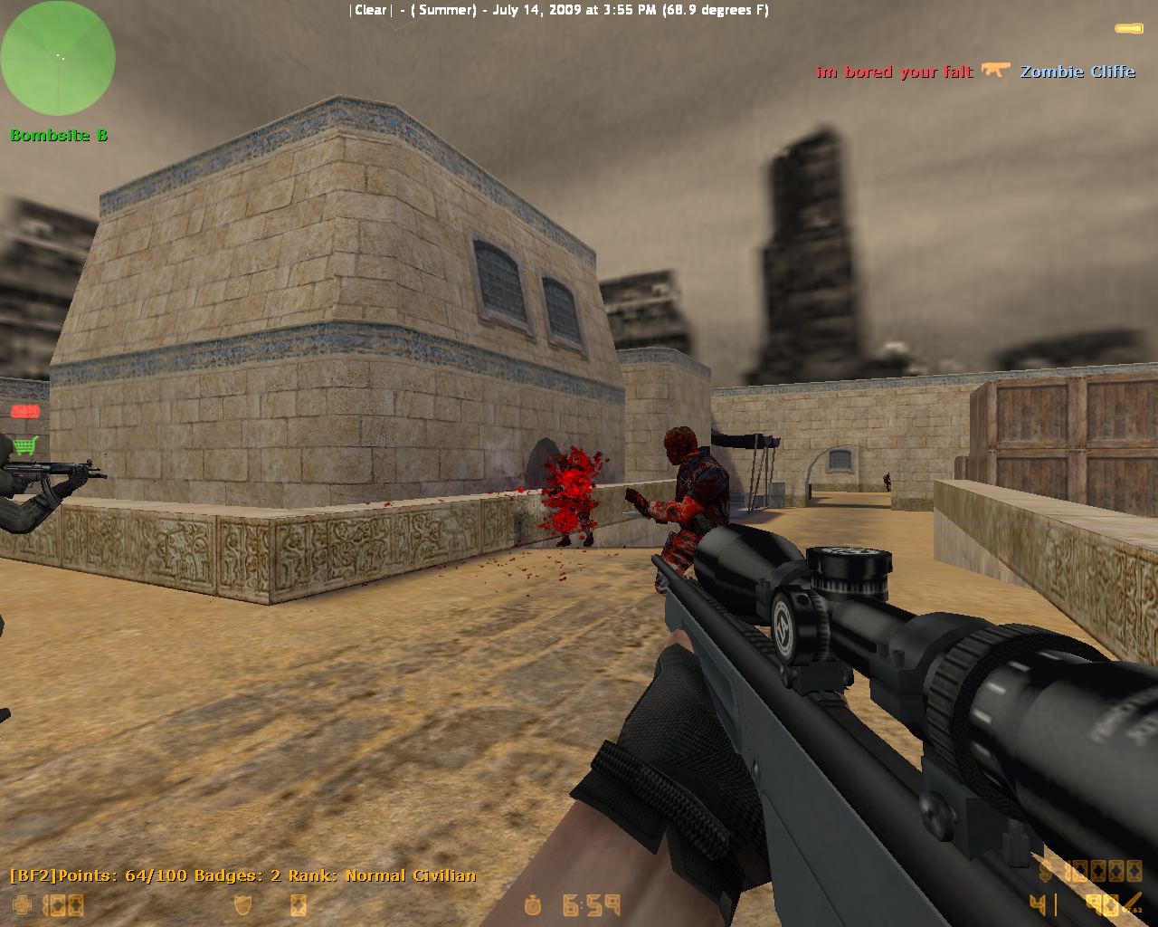 Searching aim map on servers CS (Counter-Strike )