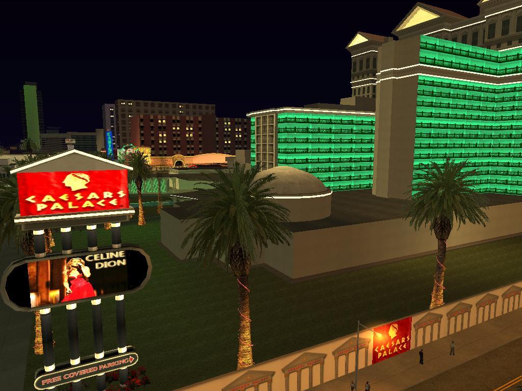 Andreas Las Vegas >> Caesar Palace (Las Vegas) image - California Megamod for Grand Theft Auto: San Andreas - Mod DB