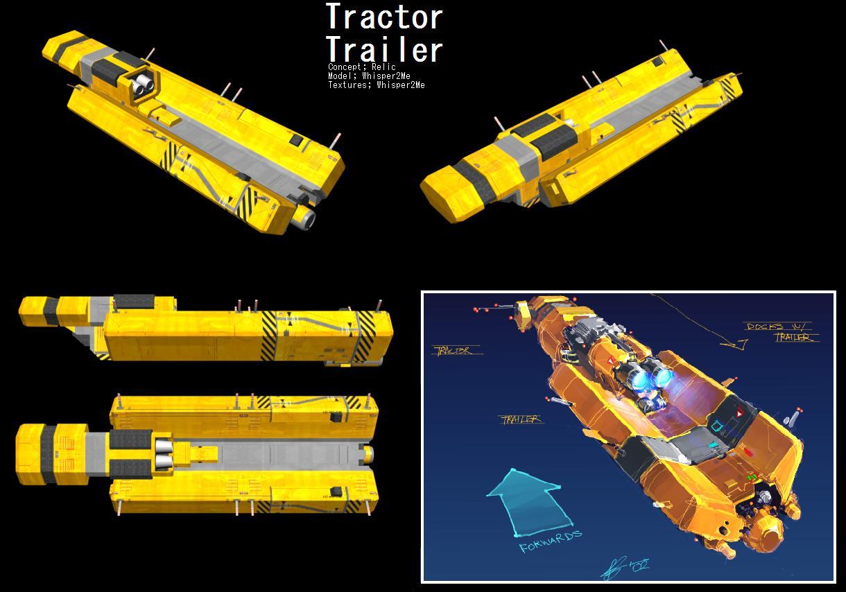 tractor trailer image homeworld   sands  time mod  homeworld  mod db