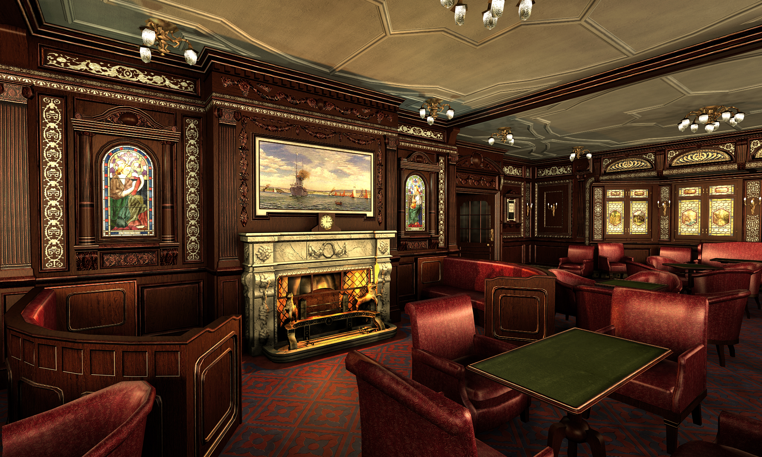 Smoking Room Completed Image Mafia Titanic Mod For Mafia