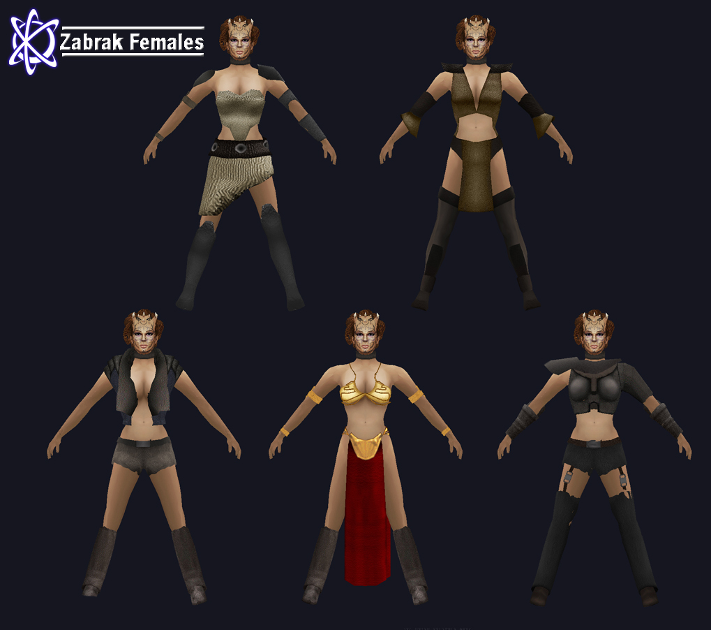 Zabrak Female Skins Image Jedi Knight Galaxies Mod For Star Wars