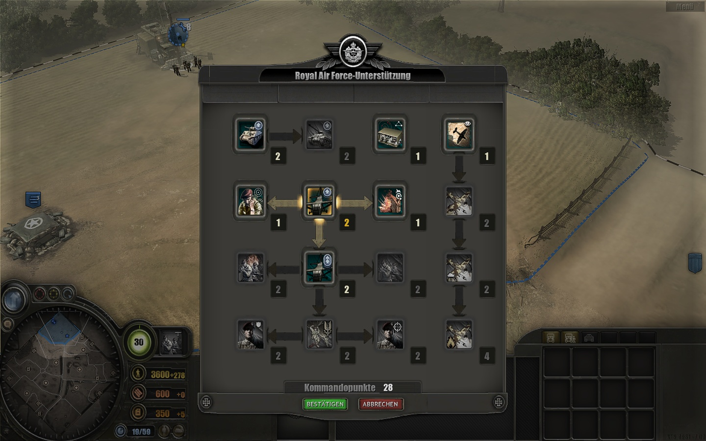 company of heroes 2 how to get commanders