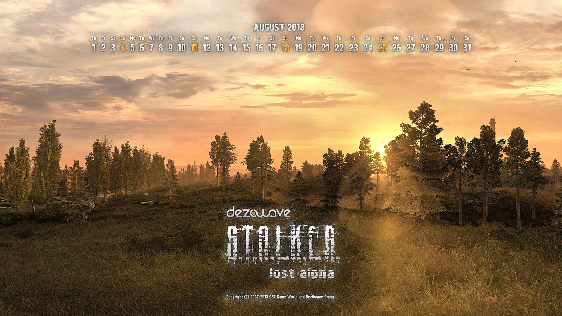 Lost Alpha Calendars for Aug 2013 image - Mod DB