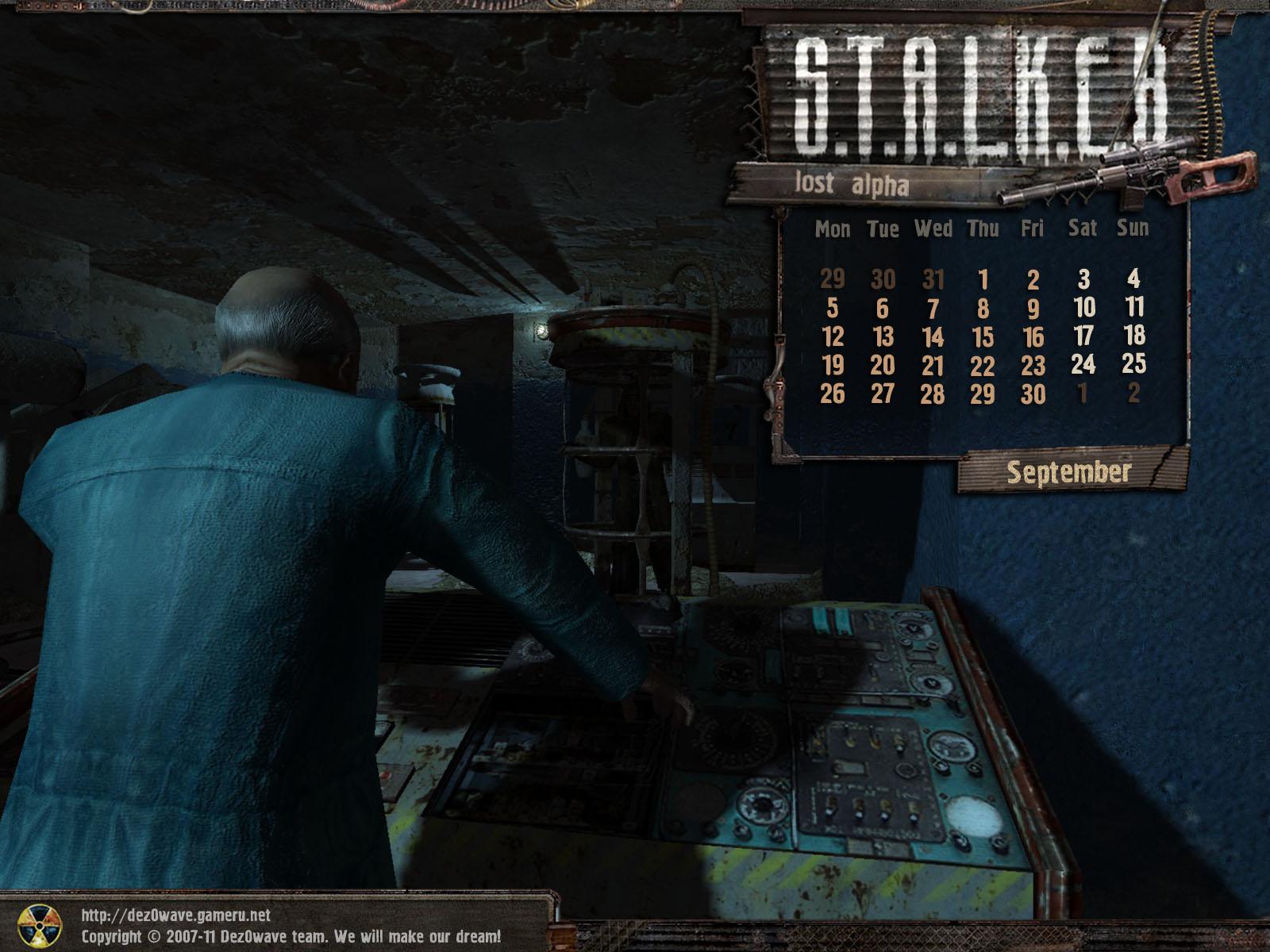 Stalker The Lost Alpha - by DezOwave ! Calendar_september_en_4_3