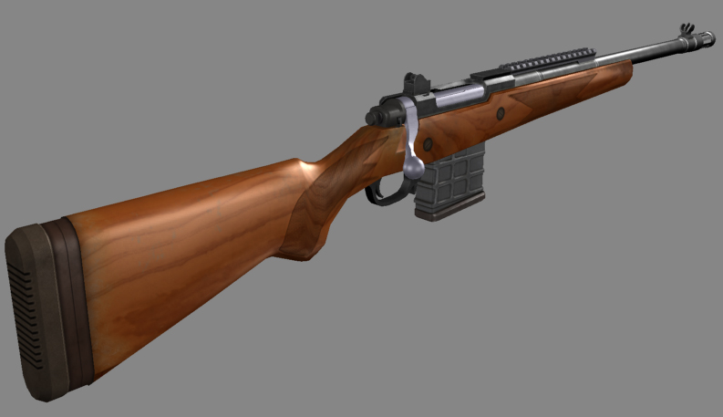 Ruger Gunsite Scout image - For Hire mod for Half-Life 2